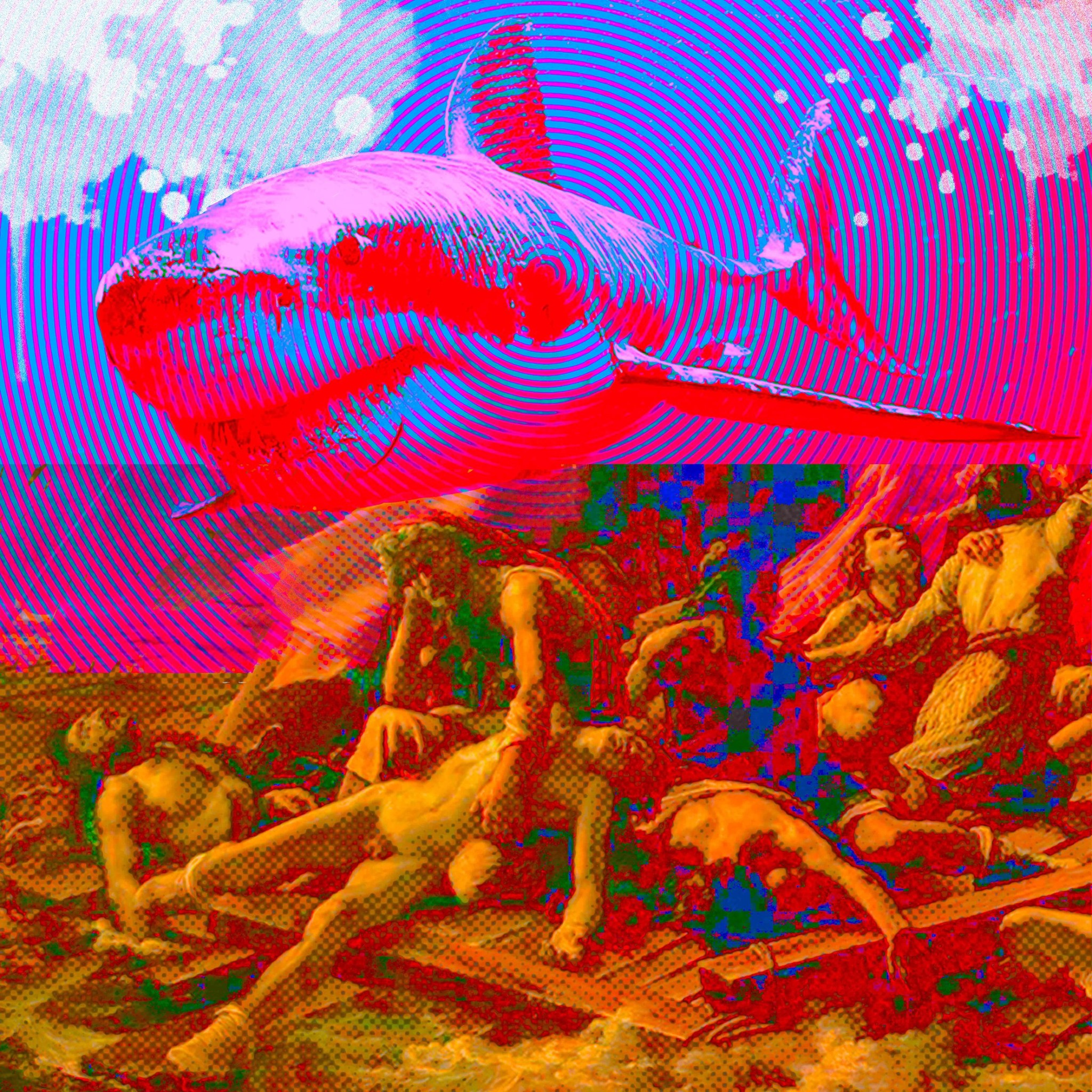 LFDG5 (le grand requin) dessin préparatoire